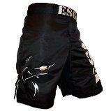 Noir véritable monocouche de combat Arts martiaux Kick Boxing Grappling Short Cage-XL Eagle Sports Gear