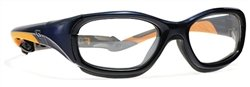 Power-Guard X-Ray Radiation Protection Glasses, 0.75mm Pb Equivalency Lens, Blue/Orange by Colortrieve