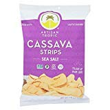 Artisan Tropic Cassava Strips - Your Tasty and Healthy Snack Alternative - Paleo, Gluten Free, Vegan, Non-GMO - Made With Sustainable Palm Oil (Sea Salt, 4.5 oz|12 pack) (Tropics Best Coconut Oil)