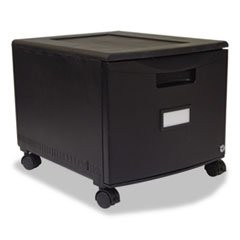 ** Single-Drawer Mobile Filing Cabinet, 14-3/4w x 18-1/4d x 12-3/4h, Black
