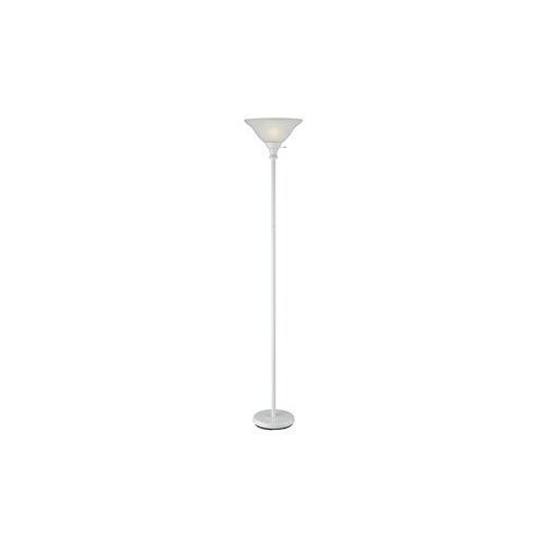 Shade Frosted Glass Lamp Floor - Cal Lighting BO-213-WH Floor Lamp with Frosted Glass Shades, 70
