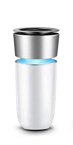 Six Star Commerce Effective Car Air Purifier and Ionizer- Cup Shaped to Fit in Cup Holder: HEPA Filter Filters Out Smoke Dust and Pollution (Silver)
