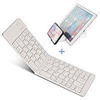 IKOS Teclado Bluetooth Plegable, Ultra Slim Mini Teclado Plegable BT para iPhone X 8 7 6S 6 Plus, iPad Mini/Pro/Air, Smartphones/Tabletas Android de Samsung y Dispositivo con Sistema Windows