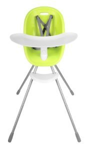 phil&teds Poppy Convertible High Chair, Lime – Converts to Child Seat – Ultra-Hygenic Aerocore Seat – Seamless – Hypoallergenic – Anti-Microbial – Dishwasher Safe Tray – Easy Clean – Waterproof ()
