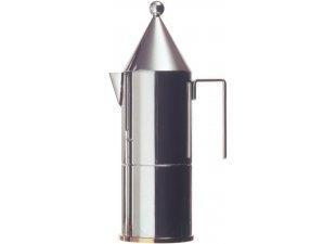 La Conica Espresso / Coffee Maker in Mirror Polished by Aldo Rossi Size: 9.25'' H x 2.95'' Dia.