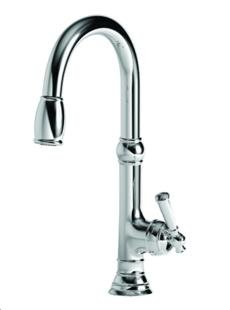 (Newport Brass 2470-5103 Jacobean Kitchen Faucet with Metal Lever Handle and Pull, Satin Nickel)