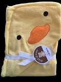 Carters Duck Ducky Hooded Hoodie Towel Yellow Baby Towel