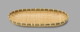 42374 Yamako Japanese Style Bamboo Basket Zaru M
