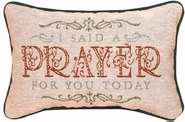 Manual Woodworkers & Weavers Daily Devotion Throw Pillow, 12.5 x 8.5, Today I Said a Prayer