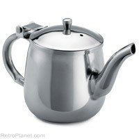 Tablecraft 18-8 Stainless Steel Gooseneck Teapot, 10 Ounce - 12 per case.