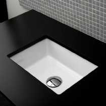 - Lacava Under-counter porcelain lavatory with an overflow, 17