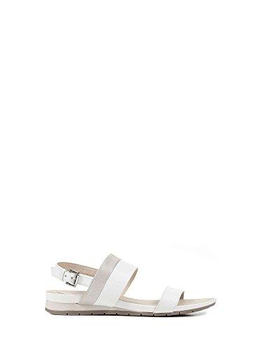 Sandalo 085GL Argento Bianco Geox D7293C Donna xRwBBg