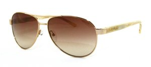 Ralph By Ralph Lauren RL-RA4004 - 101/13 Gold and Cream with Brown Gradient Lenses Women's - Aviators Lauren Ralph