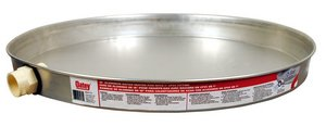 Oatey 34170 Aluminum Pan Bagged with 1-Inch CPVC Fitting, Pan without Pre-Drilled Hole, 18-Inch
