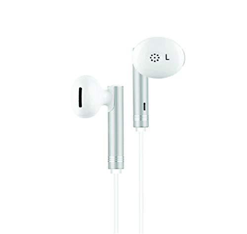 Gadgetbucket Un Tech Wired in Ear Headphone with 3.5 mm Jack and Mic for All Smartphones Iphones GH59  White