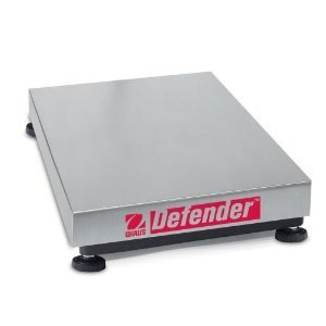 Square Bench Base Scale (Ohaus Defender 304 Stainless Steel NTEP Certified Square Bench Scale Base, 100kg x 10g)