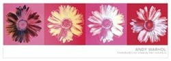 Andy Warhol Daisies Modern Poster Pop Art Print 12 x 36 inches