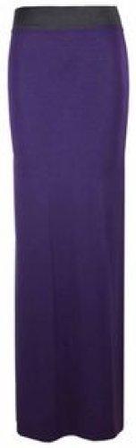 maxi dress plaine jupes longues jupes en jersey stretch purple