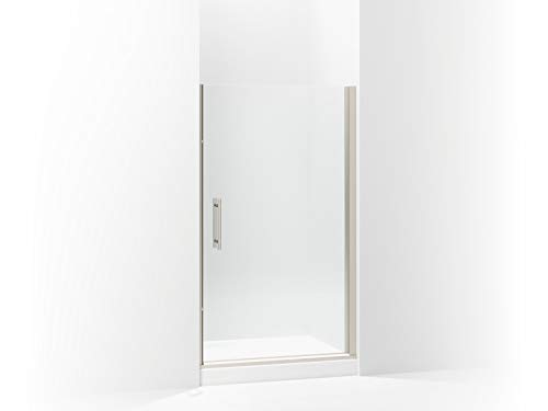 (Sterling 5698-42N-G05 Finesse Peak Frameless Pivot Shower Door with Clear Glass, 42-in W x 67-in H,)