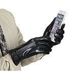 MarSue Men's Touchscreen Winter Real Leather Gloves Full-Hand