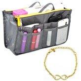 Handtasche Organizer Tasche Handtaschenordner ToolInhalt 28.5x17x8.5 Cm 4 Farben (grau)