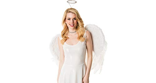M&J Trimmings Papillion Accessories Angel Halloween Costume Accessory Kit for Women, 2 Pieces ()