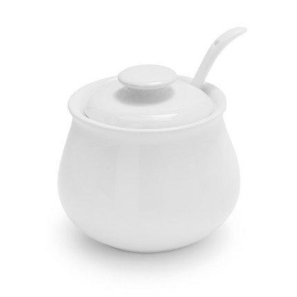 Sur La Table Porcelain Sugar Bowl with Lid and Serving Spoon HE2737-S