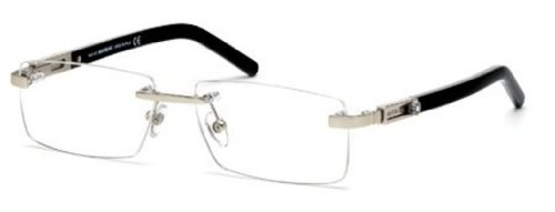 Montblanc Prescription Eyeglasses - MB0398 016 - Shiny Palladium by MONTBLANC