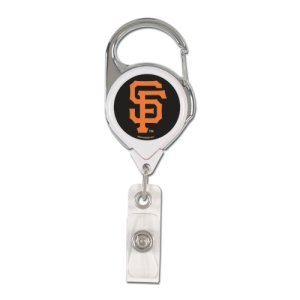 (WinCraft MLB San Francisco Giants Retractable Premium Badge Holder, Team Color, One Size)