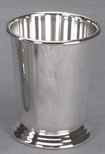 MINT JULEP CUP, SILVER PLATED.