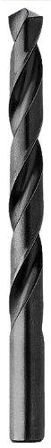(Triumph Twist Drill Co. 011419 19/64 Diameter T1D High Speed Steel Drill, Black Oxide Finish, 12-Pack)