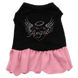 Cheap Mirage Pet Products 57-55 XXXLBKPK 20″ Angel Heart Rhinestone Dress Black with Light Pink, 3X-Large