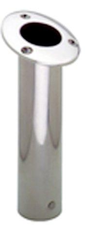 Attwood Stainless Steel Flush Mount 15 Degree Rod Holder (2-Inch), Outdoor Stuffs