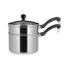 Farberware® Classic Series II Stainless Steel 2 Quart Saucepan with Double Boiler Insert and Glass Lid