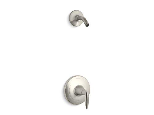 (Kohler TLS45106-4-BN K-TLS45106-4-BN ALTEO Rite-Temp Shower Valve Trim with Lever Handle, Less showerhead Vibrant Brushed Nickel )