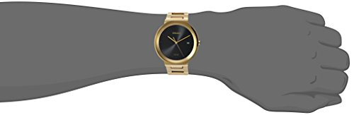 Seiko Mens Dress Japanese-Quartz Watch with Stainless-Steel Strap, Gold, 20 (Model: SNE482)