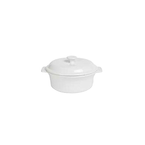 Anchor Hocking 95923 Ceramic 1.5 Qt. White Covered Casserole Dish