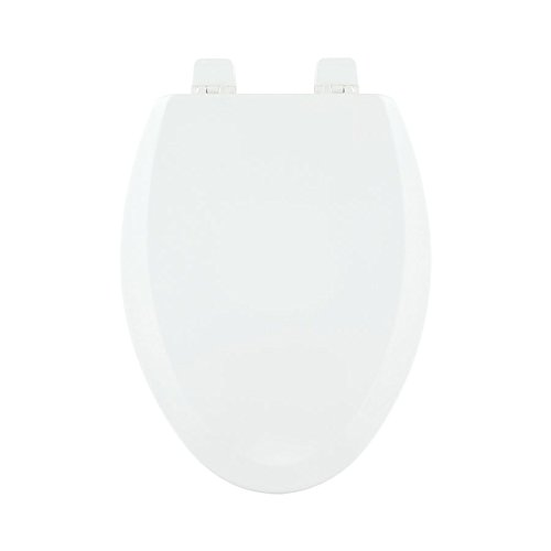 Centoco 900-301 Wood Elongated Toilet Seat with Closed Front, Crane White by Centoco (Image #1)