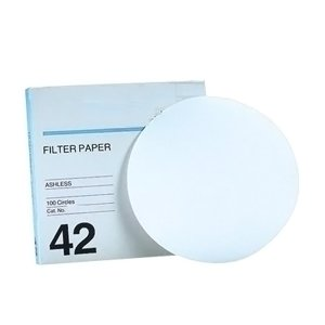 GE Healthcare 1442-150 Grade 42 Ash Less Filter Paper for Instrumental Analysis, Circle, 150 mm Diameter (Pack of 100) by GE