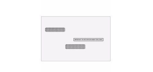 W-2/1099 Universal Self Seal Double Window Envelope for 50 Employees/Recipients