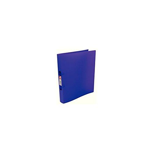 Q-Connect KF02488 Ringbuch 2 Ringe A4 12 Stück farblich sortiert/milchig