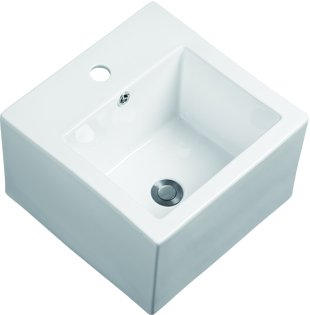 KDK Modern White Ceramic Basin Rectangular Square Vessel Sink Above Counter  Bathroom Countertop Basin For Lavatory