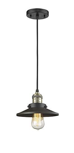 Innovations 201C-BAB-M6 1 Light Mini Pendant, Black Antique Brass