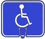 Handicap Traffic Sign - Handicap Access/Parking Symbol - Snap-on traffic cone sign, Plastic Sign