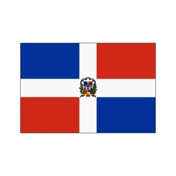 Amazoncom  Dominican Republic Flag Polyester 3 ft x 5 ft