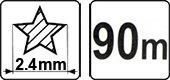 /Haarschneidemaschine Gras Linie 2.4/mmx90/m//Stern// Flo 89457/