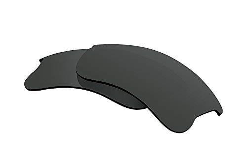 Polarized Lens Replacement Compatible with Oakley Flak Jacket XLJ Sunglasses Lenses Polarized Black ()