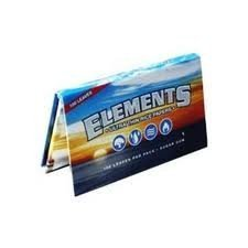 Elements SINGLE WIDE Rice Thin Cigarette Rolling Papers, 100/Pack, box of 25 packs, Sugar Gum by Element