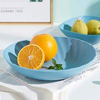 Round Petal Shape Dinner Plate Fruit Snacks Tray Tea Tray Restaurant Storage Plate 4 -