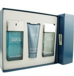 HERRERA AQUA By Carolina Herrera For Men EDT SPRAY 3.4 OZ & AFTERSHAVE 3.4 OZ & SHOWER GEL 3.4 OZ